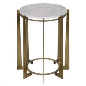 Herbert Side Table Antique Brass Noir