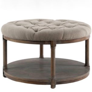 Lorraine Round Upholstery Cocktail Table Brownstone Furniture