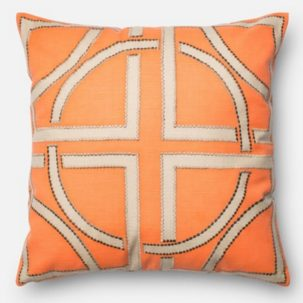 Orange Beige Pillow