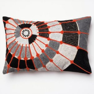 Orange Grey White Black Kidney Pillow