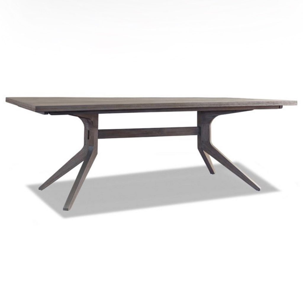 Palmer modern trestle dining table newport coast Trestle dining table