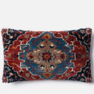Red Blue Grey Kidney Pillow
