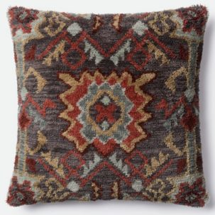Red Gray Tan Pillow
