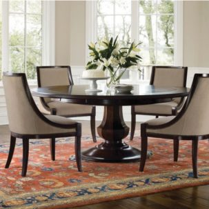 Sienna Round Dining Table Room View Brownstone Furniture
