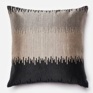Silver Black Pillow