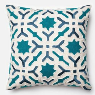 Teal Ivory Pillow