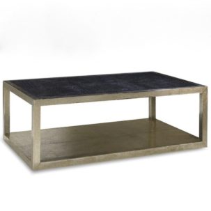 Treviso Croc Leather Coffee Table Brownstone Furniture