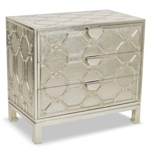 Treviso Three Drawer Accent Chest Brownstone