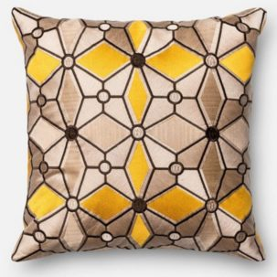Yellow Beige Grey Pillow