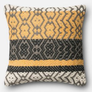 Yellow Grey Black Beige Pillow